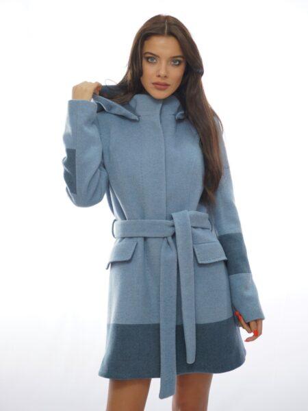спортно-елегантно палто с качулка