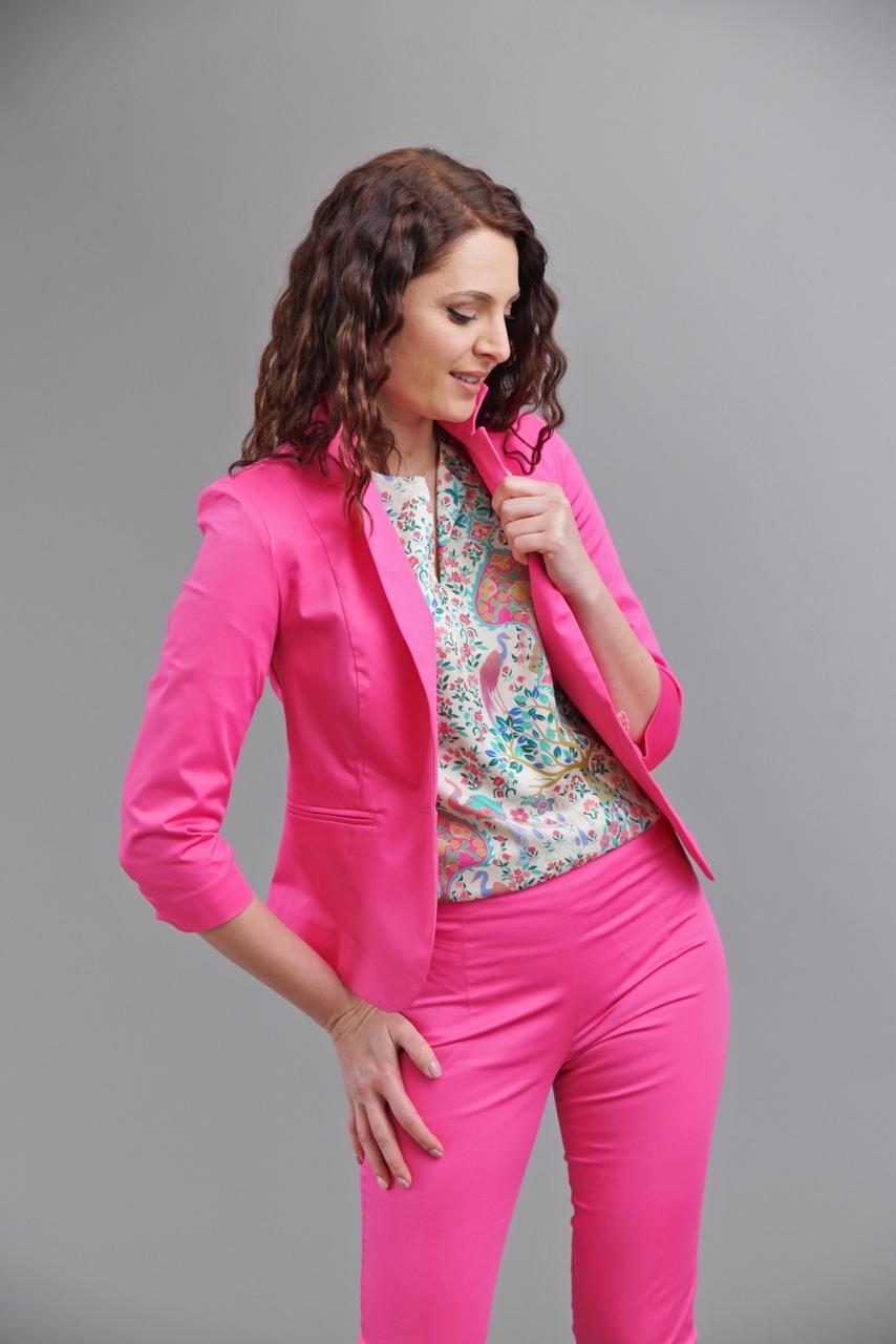 дамско сако в цвят циклама