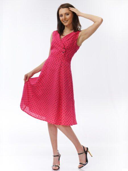 рокля от лен в циклама