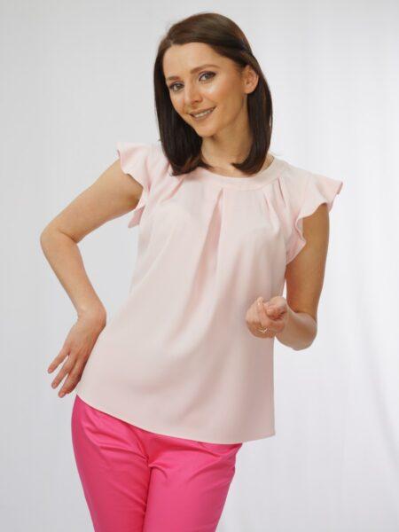дамска блуза в бледо розово