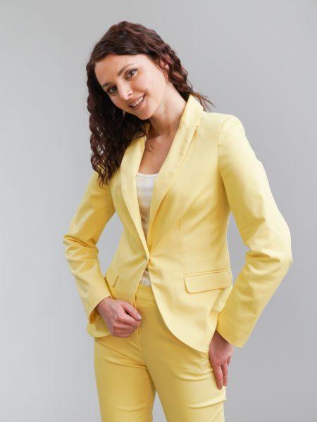 Дамско жълто сако