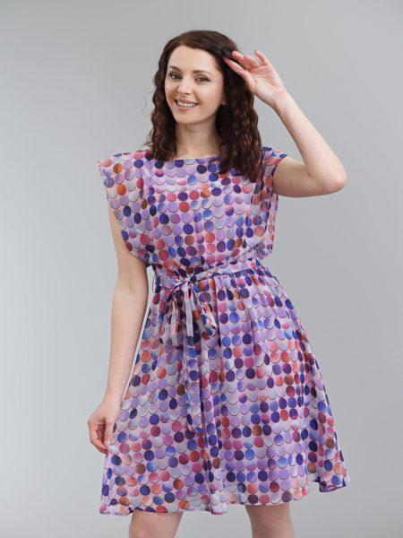 рокля лилави кръгове