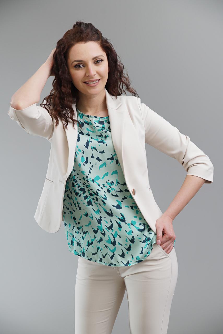 блуза в цвят мента
