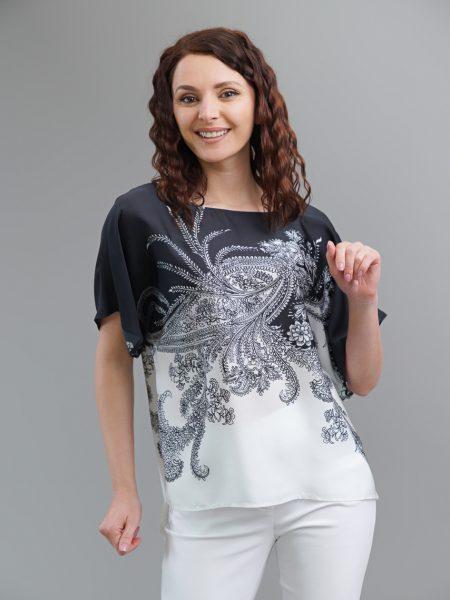 блуза черно и бяло