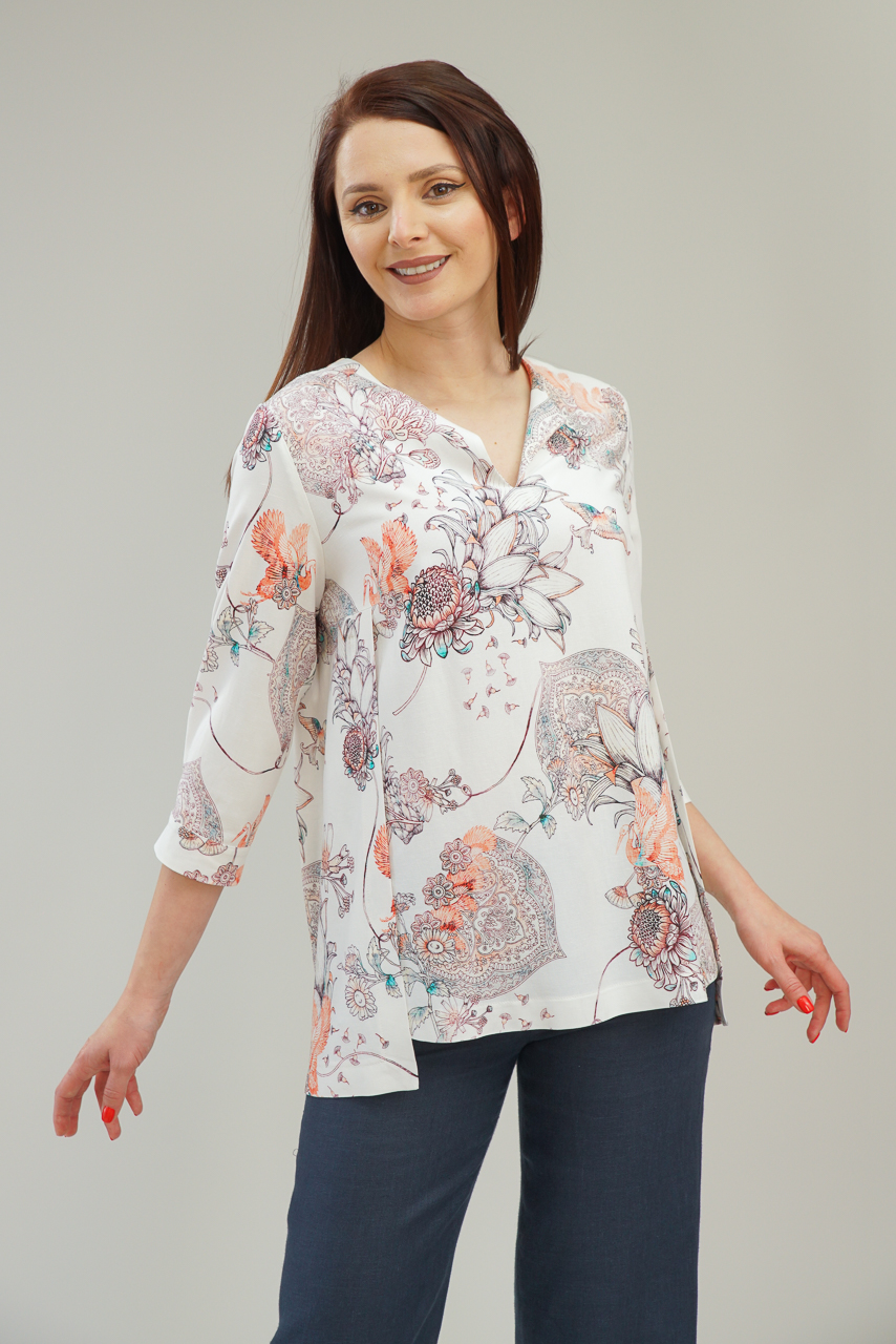 Блуза от вискоза и лен