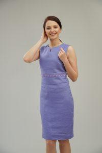 Ленена рокля в лилаво