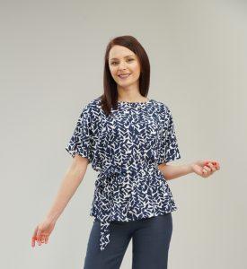 Дамска блуза с ръкав прилеп