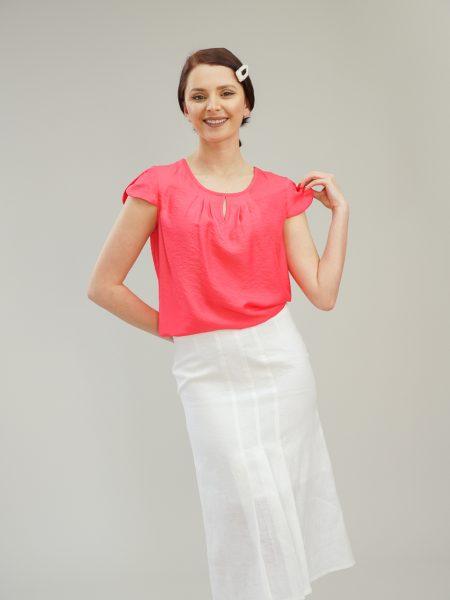 блуза цвят диня