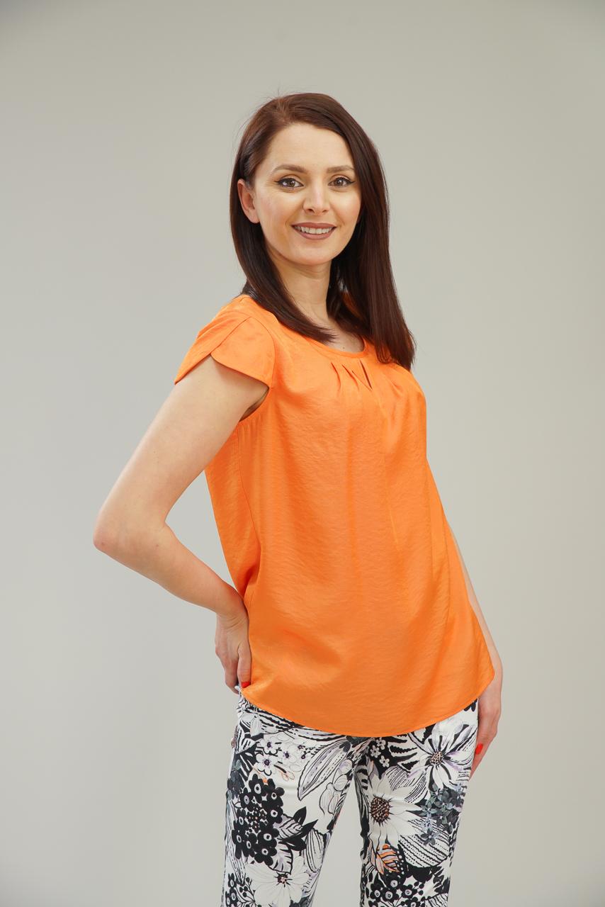 оранжева блуза