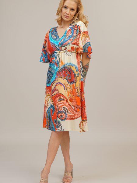 Свободна рокля с кашмирен мотив