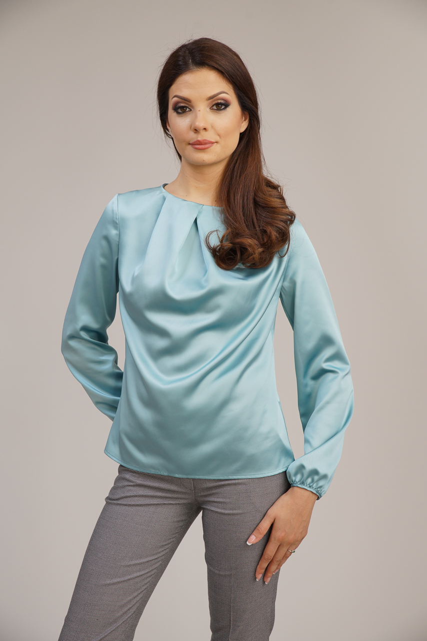 блуза аква